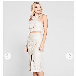 NWT Marciano Lace Crop Top And Lace Skirt